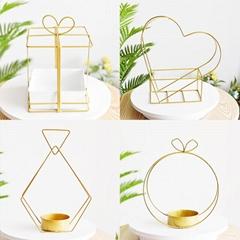 Decorative Flower Basket Metal Table Centerpiece Wedding Flower Pot Holders
