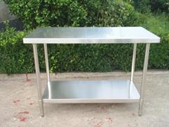 Customer-designed Stainless Steel Worktable without Backsplash