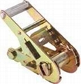 "1.5"" short straight handle ratchet buckle tie down straps"