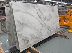 Nano Crystal Glass Stone Artificial Carrara White Marble Slabs