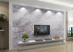 Nano Crystal Glass Stone Grey Artificial Marble TV Wall