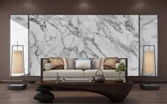 Nano Crystal Glass Stone Artificial Carrara White Marble Decorative Wall