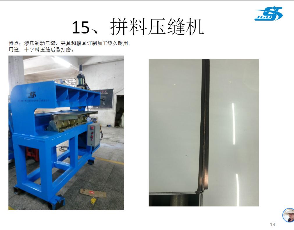 水槽拼料滾壓機 1