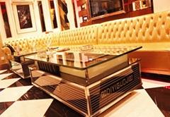 KTV茶几发光不锈钢吧台钢化玻璃桌厂家定制