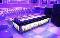 KTV茶几酒吧高台钢化玻璃桌厂家定制简约新款