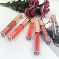 New Arrival Natural Wholesale Custom Matte Lipgloss Rose Gold Glitter Lip Gloss  5