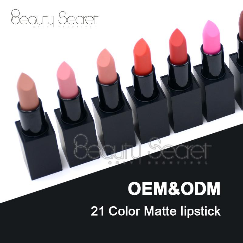 Best selling cosmetics tube organic vegan matte private label lipstick 5