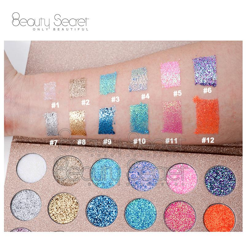 Professional Glitter Eyeshadow for Makeup Private Label Eyeshadow Palette 3