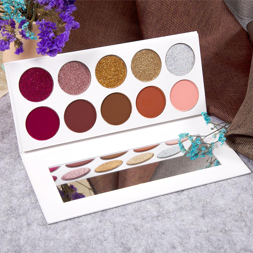 10 Colors 36mm Glitter Eye Shadow Palette Private Label Eyeshadow Palette 5