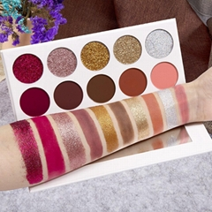 10 Colors 36mm Glitter Eye Shadow Palette Private Label Eyeshadow Palette