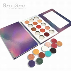 Natural mineral new design 15 cosmetic matte shimmer makeup your own eyeshadow