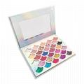 Mermaid Shell Shape High Pigmented Glitter Eyeshadow 32 Color Eyeshadow Palette  2