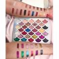 Mermaid Shell Shape High Pigmented Glitter Eyeshadow 32 Color Eyeshadow Palette  3