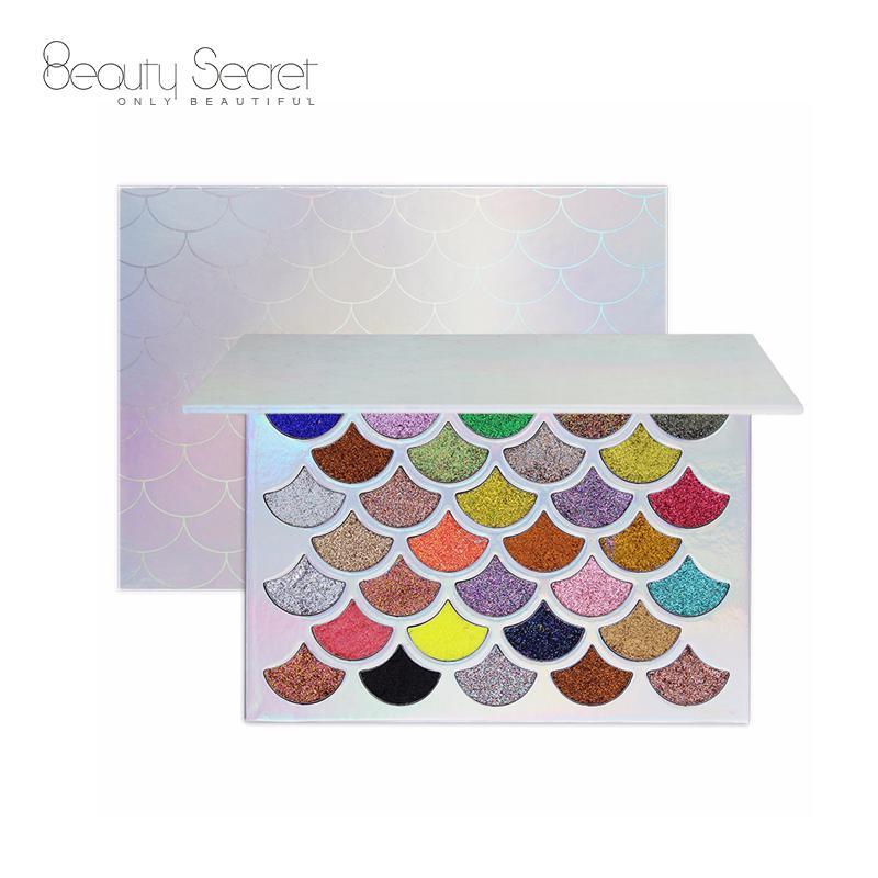 Mermaid Shell Shape High Pigmented Glitter Eyeshadow 32 Color Eyeshadow Palette  4