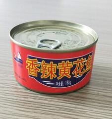 锦泉150克香辣黄花鱼罐头自产自销一件OEM代加工