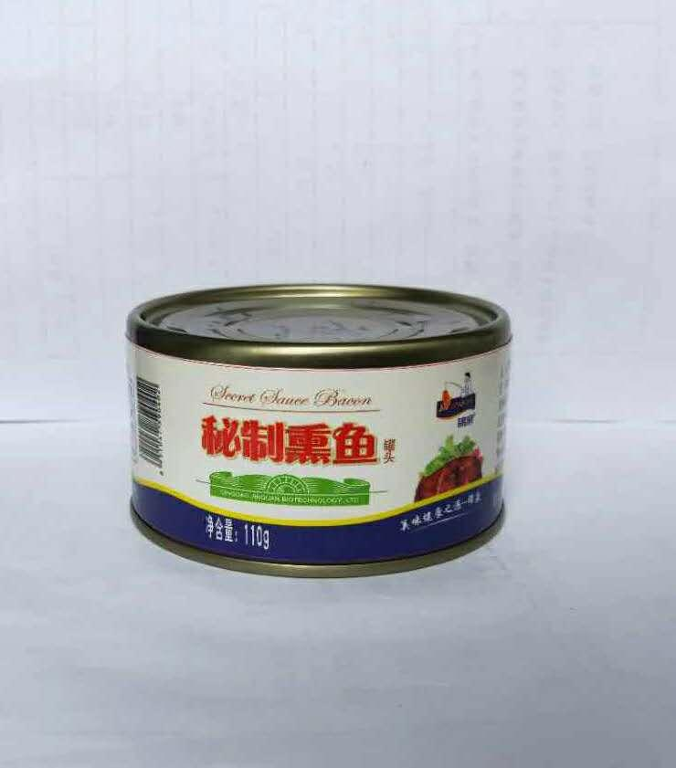 锦泉110g无防腐剂休闲即食水产品秘制熏鱼罐头食品 1