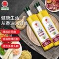香達人高品質冷搾藥用芝麻油750ml*2瓶禮盒 1