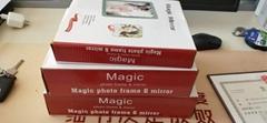 LED Photo Frame Magic Mirror Photo Frame Plastic Photo Frame Light Box Platform