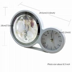 Slingifts Magic Mirror LED Light Box Photo Frame Round Clock Multifunction Decor