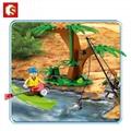 森宝积木末日救援系列丛林直升机拼插益智儿童玩具 2
