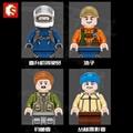 森宝积木末日救援系列丛林直升机拼插益智儿童玩具 3