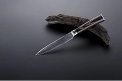 """Damascus utility knife; 5.5"""""""