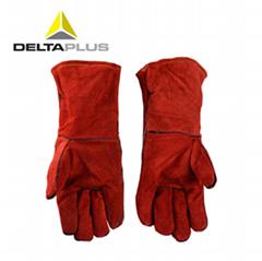 代尔塔电焊工手套隔热耐磨