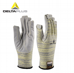 代尔塔可短时接触高温250°C牛皮手套
