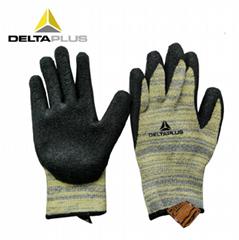 代尔塔乳胶涂层防切割防水耐磨损劳保手套