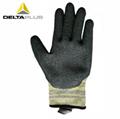 代尔塔乳胶涂层防切割防水耐磨损劳保手套 3