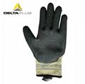 代尔塔乳胶涂层防切割防水耐磨损劳保手套 4