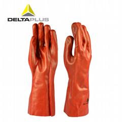 代尔塔防滑耐酸性防腐蚀工业劳保手套