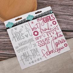 聖誕節字母數字賀卡相冊diy貼紙pvc金粉貼紙