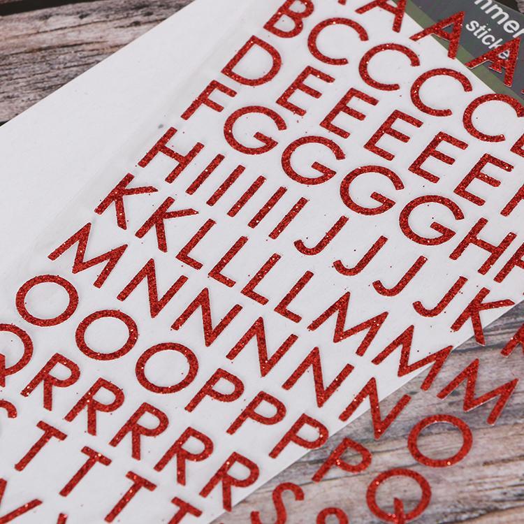 alphabet Christmas glitter sticker  4