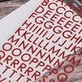 圣诞节字母数字贺卡相册diy贴纸pvc金粉贴纸 4