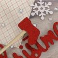 圣诞节字母数字贺卡相册diy贴纸pvc金粉贴纸 5