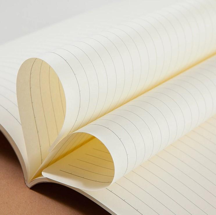 Custom  school Gift office printed a4 plain kraft notebook  3