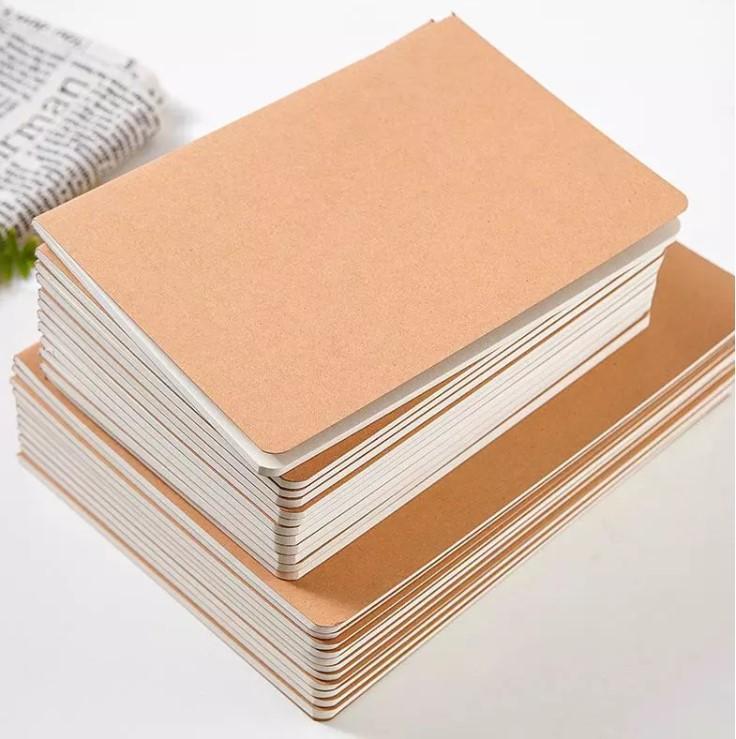 Custom  school Gift office printed a4 plain kraft notebook  4