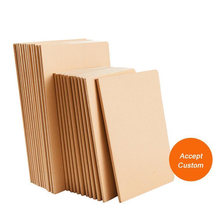 Custom  school Gift office printed a4 plain kraft notebook  5