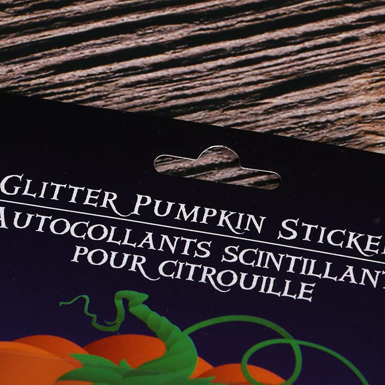 smiling faces glitter EVA stickers adhesive decorated Halloween's pumpkin 2