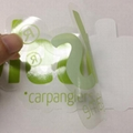 removable logo Die cut Transparent