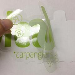 可印刷定做logo透明可转移透明pvc贴纸