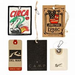 可定做商標廣告logo裝飾賀卡禮物四色印刷牛皮紙吊牌標籤