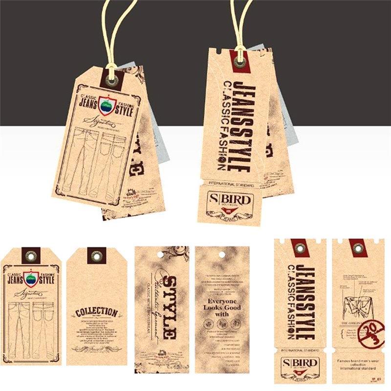 可定做商标广告logo装饰贺卡礼物四色印刷牛皮纸吊牌标签 4