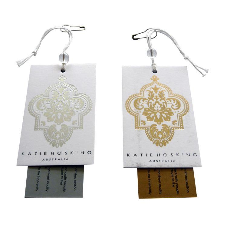 可定做商标广告logo装饰贺卡礼物四色印刷牛皮纸吊牌标签 5