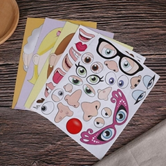 Customized Children DIY faces PVC Static Clings Sticker