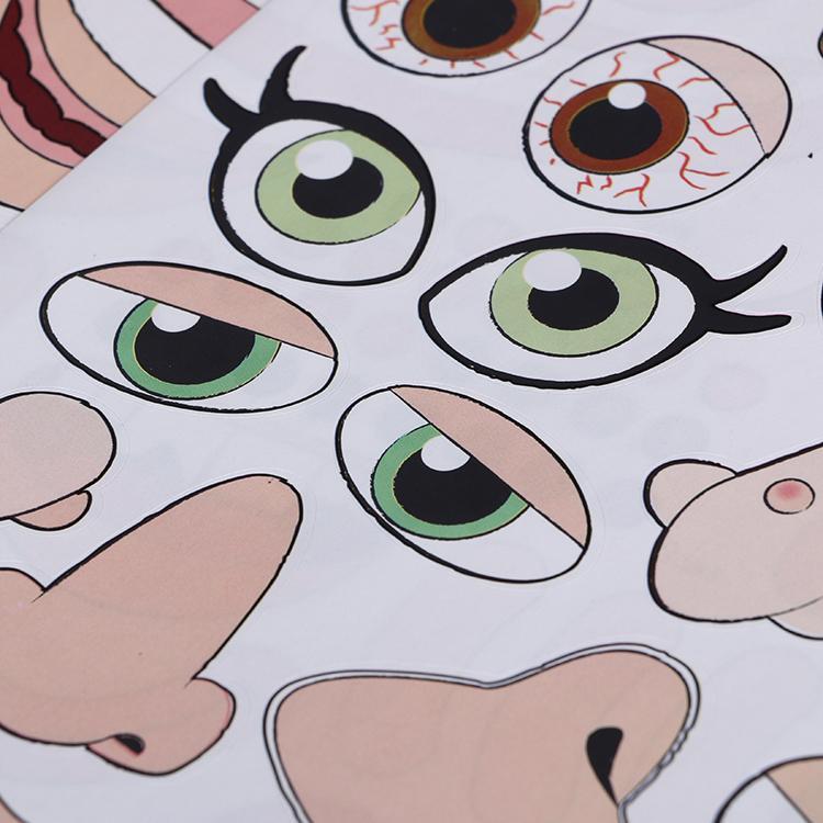 定制广告logo透明儿童diy表情秀换装静电膜贴 5