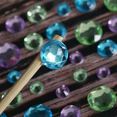 Customer round shape Self Adhesive Crystal Rhinestone Acrylic Gem sticker