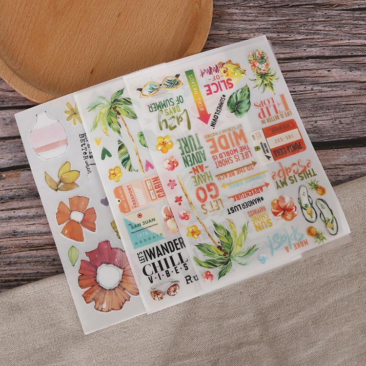 可定制装饰贺卡手帐本diy儿童转印刮刮贴纸 2