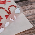 Custom Decorative Christma Rub on scratching transfer stickers with wood stick  3